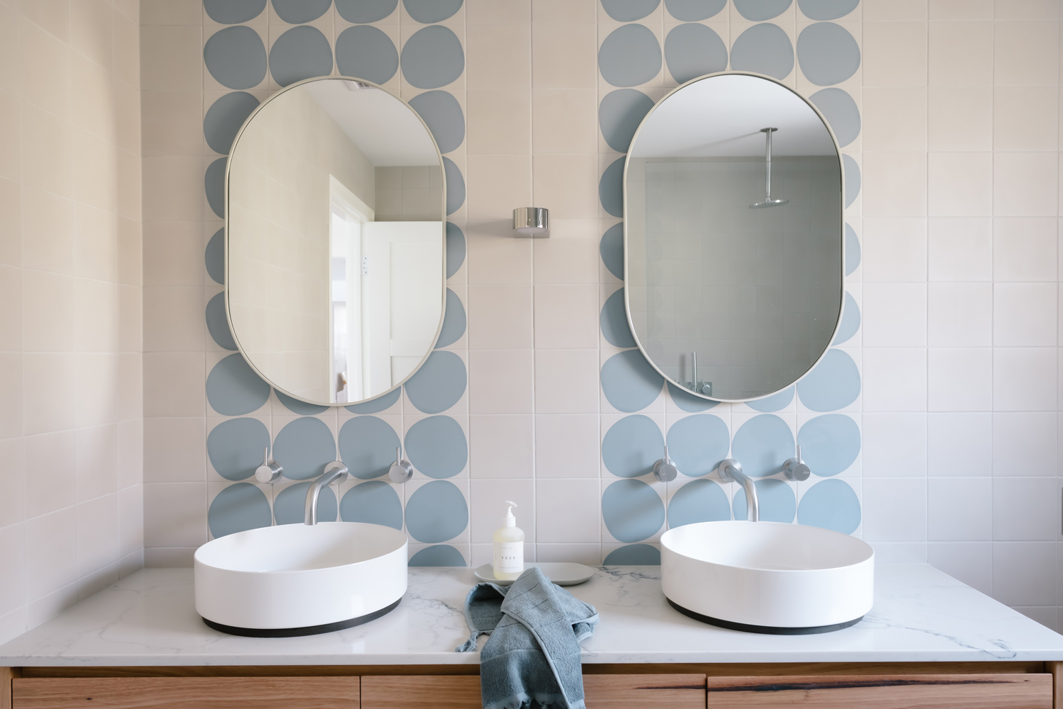 Contemporary bathroom renovation by Dunne Constructions